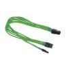 Nanoxia PCI-E 6 - 6+2 pin adapter - 30 cm - neon zöld