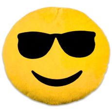 Napszemüveges emoji párna