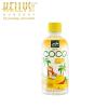 Nata de coco gyümölcsital kókuszdarabokkal, mangó ízesítéssel