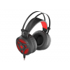 Natec GENESIS Gaming headset NEON 360 Stereo Backlight Vibration black-red