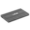 Natec UGO HDD/SSD enclosure for 2.5'' SATA - USB2; Aluminum; black