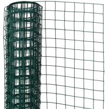 NATURE zöld négyszögletű műanyag bevonatú acél drótháló 0,5x2,5m 13mm kerti dekoráció