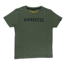 Navitas core kids t-shirt green age 5-6 horgászkiegészítő