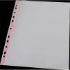Nebuló Genotherm, lefűzhető, színes szélű, fényes felületű,  A4, 40 mikron, PANTA PLAST, piros - 20db/csoma
