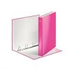 """Nebuló """"Gyűrűs könyv, 4 gyűrű, D alakú, 40 mm, A4 Maxi, karton, lakkfényű, LEITZ """"""""Wow"""""""", rózsaszín"""""""