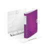 """Nebuló """"Gyűrűs könyv, 4 gyűrű, D alakú, 52 mm, A4, PP, LEITZ """"""""Active Wow"""""""" lila"""""""