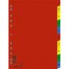Nebuló Regiszter, MŰANYAG, A4, 1-10, DONAU, színes