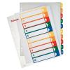 Nebuló Regiszter, műanyag, A4 Maxi, 1-10, nyomtatható, ESSELTE, áttetsző