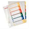 Nebuló Regiszter, műanyag, A4 Maxi, 1-6, nyomtatható, ESSELTE, áttetsző
