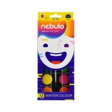 Nebulo Vízfesték NEBULO 28 mm 12-es ajándék ecsettel hobbifesték