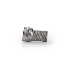 Nedis Nedis F csatlakozó | Tüske | 6,4 mm-es Koax Kábelekhez | 25 darab | Fém kábel és adapter