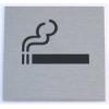 """NEMMEGADOTT tábla alu öntap. 60x60mm """"dohányzóhely"""" szimb."""