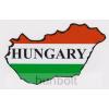 Nemzeti színű Magyarország külső matrica Hungary felirattal (8x5 cm)