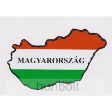 Nemzeti színű Magyarország külső matrica Magyarország felirattal (14X8 cm) matrica