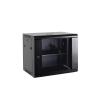 """Netrack 18U 19"""" fali rack szekrény 600x450mm levehető oldalú sötétszürke (019-180-645-021)"""