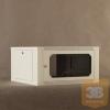 Netrack fali szekrény, 19'', 6U/600 mm - szürke, üveg ajtó,levehető old.