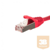 Netrack patch cable RJ45; snagless boot; Cat 5e FTP; 0.25m red