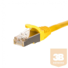 Netrack patch cable RJ45; snagless boot; Cat 5e FTP; 0.25m yellow