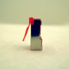 Netrack plug RJ45 8p8c, FTP for stranded cable, cat. 5e (100 pcs.), red