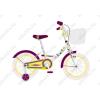 """Neuzer Cupcake 16""""os gyerek kerékpár, lányka, fehér/szilva"""
