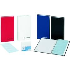 Névjegytartó, 150 db‐os, gyűrűs, DONAU, kék névjegytartó