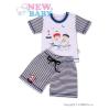 NEW BABY 2-részes nyári együttes New Baby Matróz | Kék | 122 (6-7 éves)
