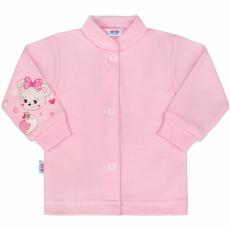 NEW BABY Baba kabátka New Baby maci rózsaszín