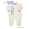 NEW BABY Baba kezeslábas New Baby Barátok krémszínű | Bézs-tejfehér | 86 (12-18 h)