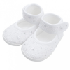 NEW BABY Baba kislányos cipő New Baby ezüst-fehér 12-18 h