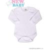 NEW BABY Body hosszú ujjú New Baby - fehér | Fehér | 80 (9-12 h)