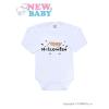 NEW BABY Body nyomtatott mintával New Baby Happy Halloween | Narancssárga | 86 (12-18 h)