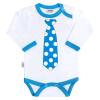 NEW BABY Body nyomtatott mintával New Baby türkiz nyakkendővel | Türkiz | 80 (9-12 h)