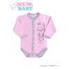 NEW BABY Csecsemő hosszú ujjú body (kombidressz) New Baby Barátok rózsaszín | Rózsaszín | 68 (4-6 h)