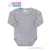 NEW BABY Csecsemő hosszú ujjú body New Baby szürke | Szürke | 86 (12-18 h)