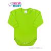 NEW BABY Csecsemő hosszú ujjú body New Baby világos zöld | Világos zöld | 86 (12-18 h)