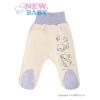 NEW BABY Csecsemő lábfejes nadrág New Baby Barátok bézs | Bézs-tejfehér | 86 (12-18 h)