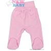 NEW BABY Csecsemő lábfejes nadrág New Baby Classic | Rózsaszín | 86 (12-18 h)