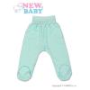 NEW BABY csecsemő lábfejes nadrág türkiz | Türkiz | 56 (0-3 h)