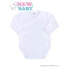 NEW BABY Csecsemő teljes hosszba patentos body New Baby Classic fehér | Fehér | 56 (0-3 h)