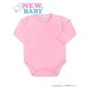 NEW BABY Csecsemő teljes hosszba patentos body New Baby Classic rózsaszín | Rózsaszín | 50