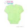 NEW BABY Csecsemő teljes hosszba patentos body New Baby Classic zöld | Zöld | 62 (3-6 h)
