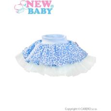 NEW BABY Dojčenská suknička s tylovou spodničkou New Baby Leopardík modrá