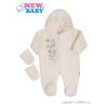 NEW BABY Fleece kezeslábas New Baby Barátok krémszínű | Bézs-tejfehér | 74 (6-9 h)
