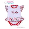 NEW BABY Fodros, rövid ujjú baba body New Baby Katica | Fehér | 62 (3-6 h)