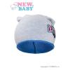 NEW BABY Gyerek őszi sapka New Baby In-line szürke - kék | Szürke | 110 (4-5 éves)