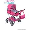 NEW BABY Gyermek babakocsi babáknak 2az1-ben New Baby Rózsi