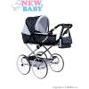 NEW BABY Gyermek Retro babakocsi babáknak 2az1-ben New Baby Natálka fehér - fekete