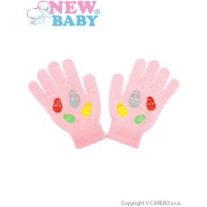 NEW BABY Gyermek téli kesztyű New Baby Girl világos rózsaszín