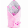 NEW BABY Kétoldalas pólya Minka New Baby 75x75 cm felhőcske rózsaszín