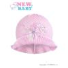 NEW BABY Kötött kalap New Baby rózsaszín - fehér | Rózsaszín | 104 (3-4 éves)